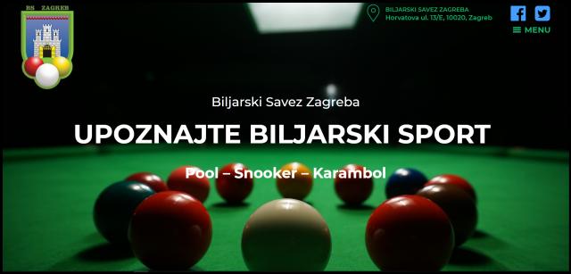 Dobrodošli na web stranice Biljarskog saveza Zagreba